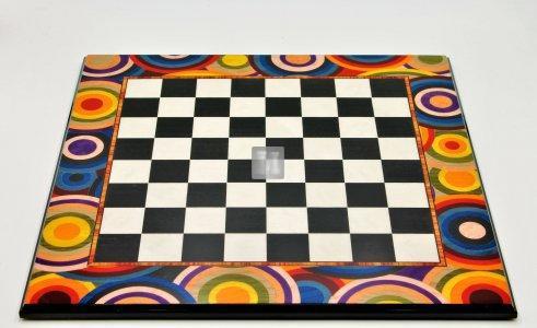 44,5 x 44,5 Scacchiera con cerchi colorati