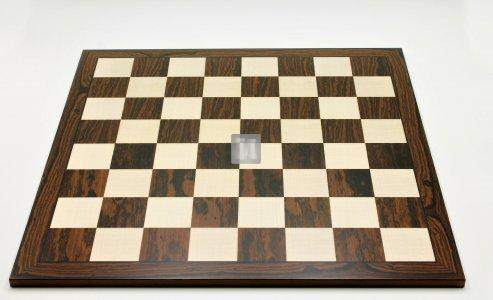 50 x 50 Scacchiera da torneo in ebano striato e acero. casella 55mm. - 691
