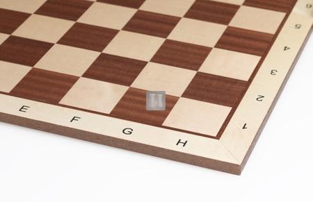54 x 54 Scacchiera in legno di abete, con lettere e numeri. Casella 58mm.