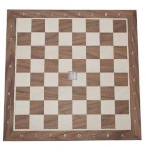 48 x 48 Scacchiera da torneo in noce e acero. Con lettere e numeri, casella 50mm. - 743N
