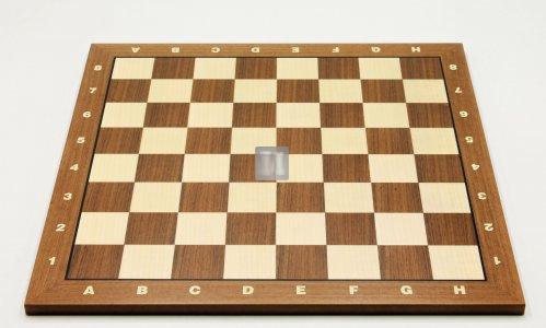 50 x 50 Scacchiera da torneo in noce e acero. Con lettere e numeri, casella 55mm. - 746NBA
