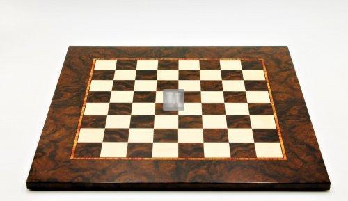 54 x 54 Scacchiera da torneo in noce e radica di acero