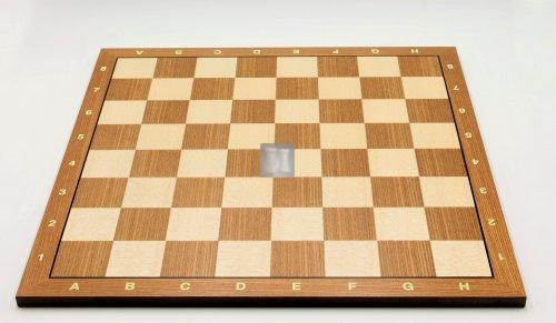 50 x 50 Scacchiera da torneo in olmo e acero. Con lettere e numeri, casella 55mm. - 690L