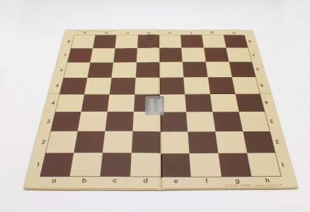 Tournament Folding Chess Board with 2.25 Squares - Double Fold (brown)