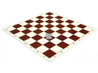 Silicone tournament chessboard - brown