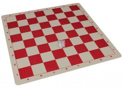 53x53 Scacchiera da torneo in silicone - rossa