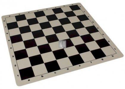 53x53 Scacchiera da torneo in silicone - nera