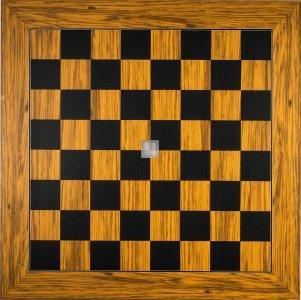 60 x 60 Scacchiera da torneo in ulivo e pioppo. Casella 60mm. - 720S60