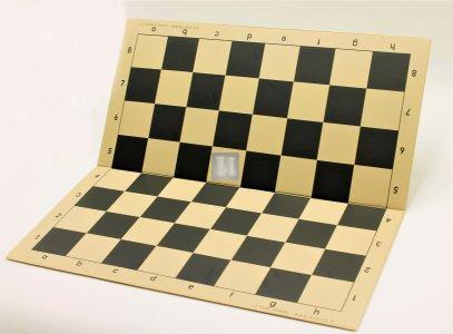 51 x 51 Scacchiera da torneo in plastica, pieghevole. Beige-Nera
