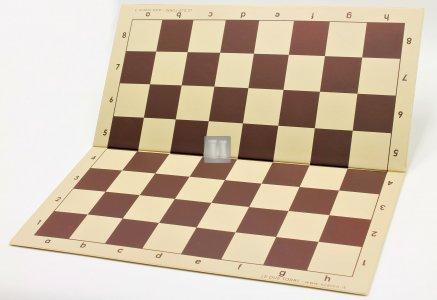 51 x 51 Scacchiera da torneo in plastica, pieghevole. Beige-Marrone