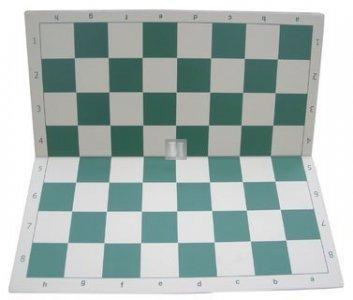 50 x 50 Scacchiera da torneo in plastica, pieghevole. Bianco-Verde