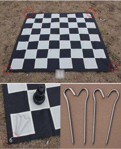 Nylon fabric giant chessboard