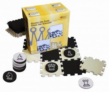 Scacchiera grande - pezzi a disco diam. 9cm (scacchi e dama)