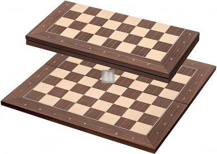 Scacchiera in legno pieghevole con lettere e numeri casella 50mm