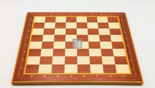 Tournament Chessboard with notation - Mahogany/Sycamore 40x40cm