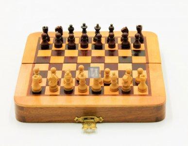 Scacchiera magnetica in legno - 633A - 13x13cm