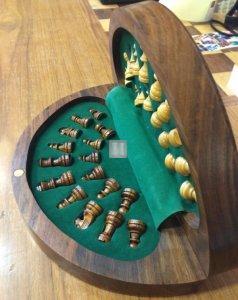 Scacchiera magnetica in legno rotonda - 633T