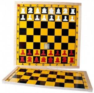 Folding magnetic demonstration chessboard