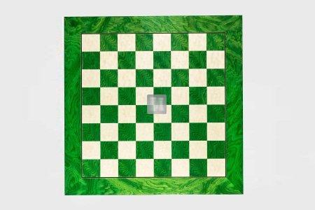 55 x 55 Scacchiera verde da torneo in acero e radica di frassino