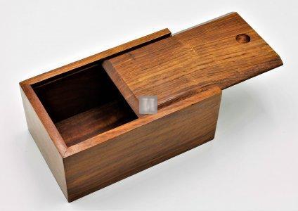 """Scatola per scacchi in legno di noce modello """"Slide"""""""