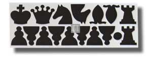 Set 32 pezzi di ricambio per scacchiera murale