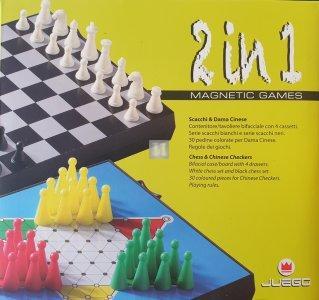 Travel Chess-Set, Alu, magnetic