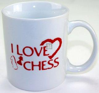 Tazza scacchistica in ceramica